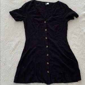 H&M button up mini dress